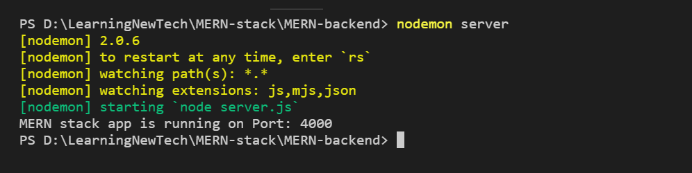 How to create a MERN stack app in 4 Steps? Section 2