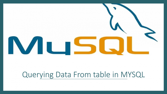 How to Querying Data From table