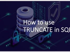 How to use TRUNCATE for MYSQL