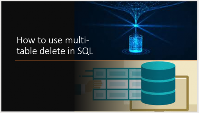 How to use multi-table delete in SQL