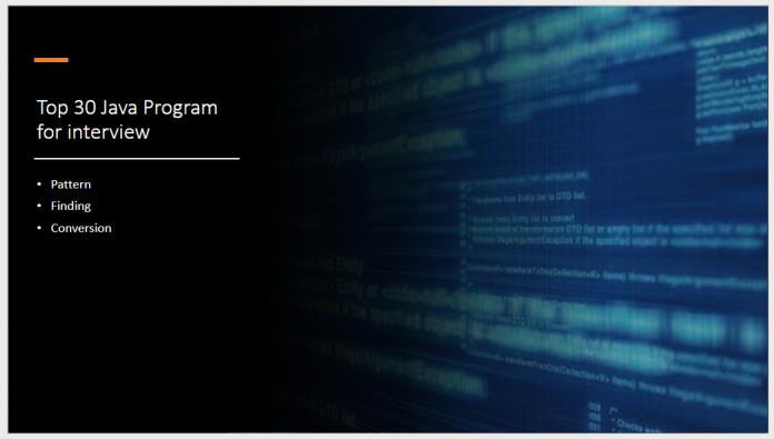 Top 30 Java Program for interview
