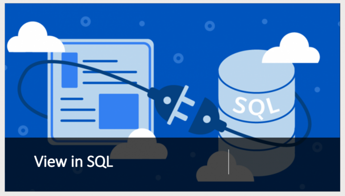 View in SQL with example