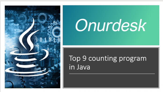 Top 9 counting program in Java