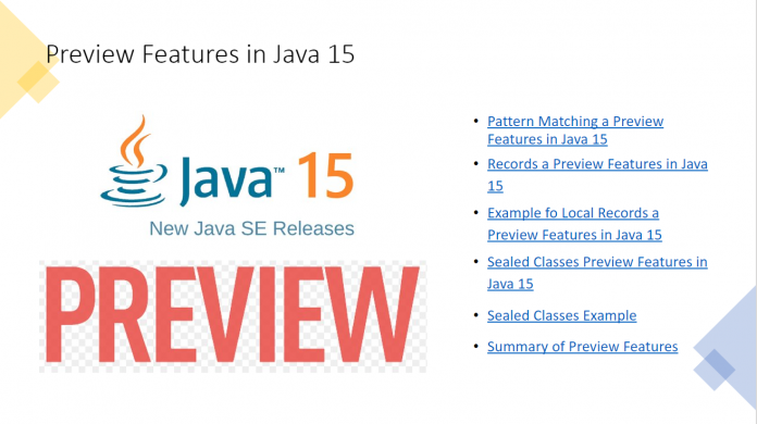 Preview Features in Java 15